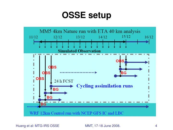 OSSE setup