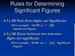 rules for determining significant figures