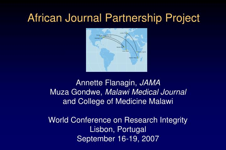 African journal partnership project