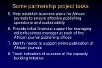 some partnership project tasks1