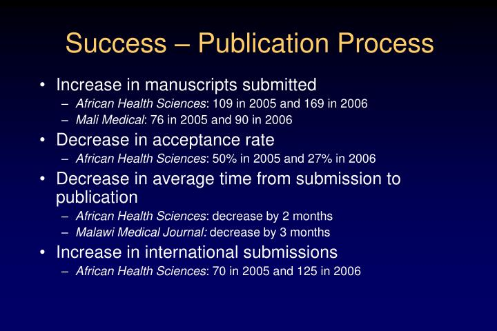 Success – Publication Process