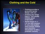 clothing and the cold