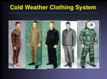 cold weather clothing system