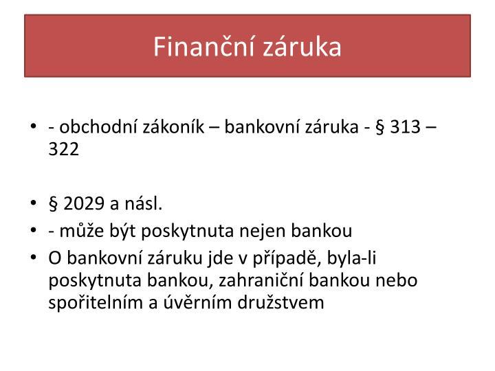 Finanční záruka