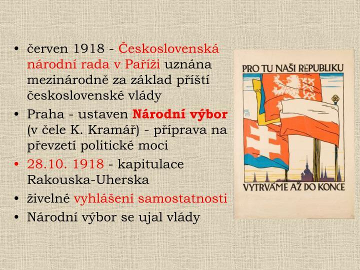 červen 1918 -