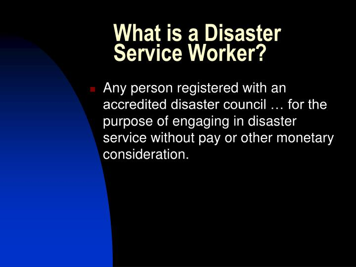 What is a disaster service worker