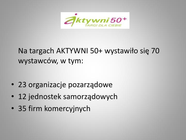 Na targach AKTYWNI 50+ wystawiło się 70 wystawców, w tym: