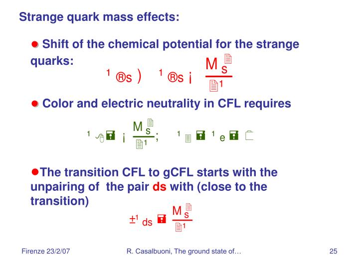 Strange quark mass effects: