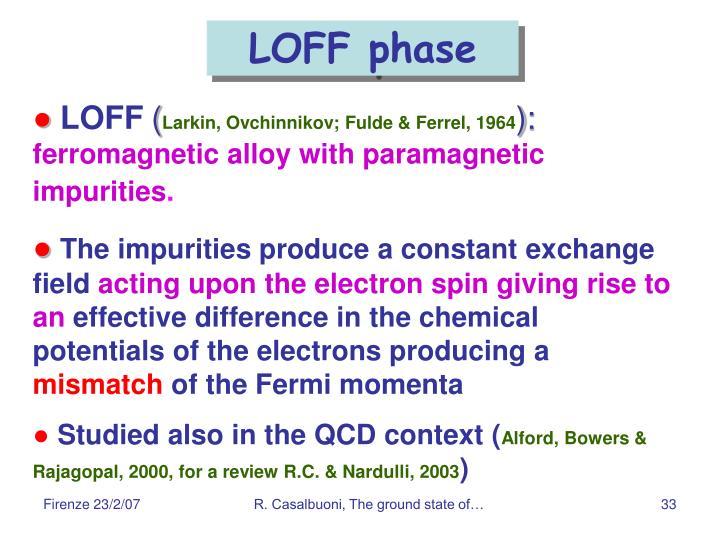 LOFF phase