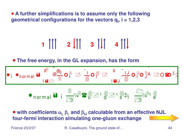A further simplifications is to assume only the following geometrical configurations for the vectors q
