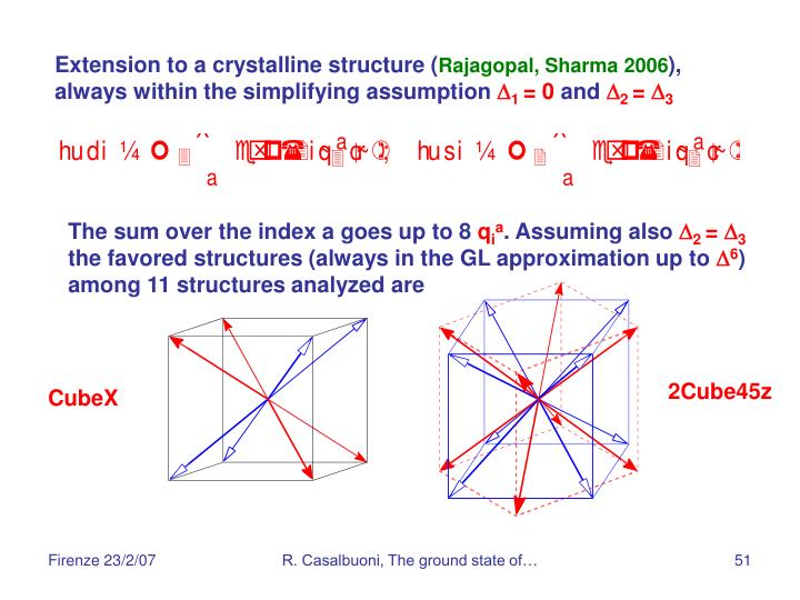 Extension to a crystalline structure (