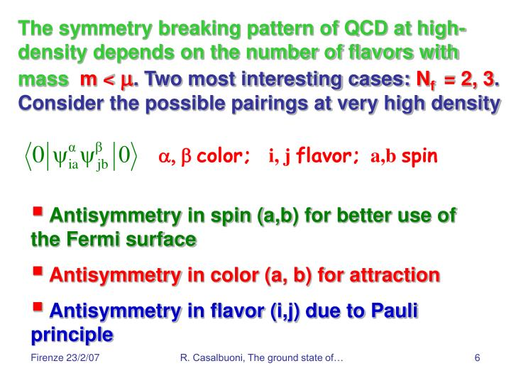 The symmetry breaking pattern of QCD at high-density depends on the number of flavors with mass