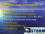 basic hurricane information