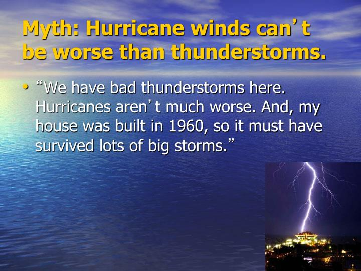 Myth: Hurricane winds can