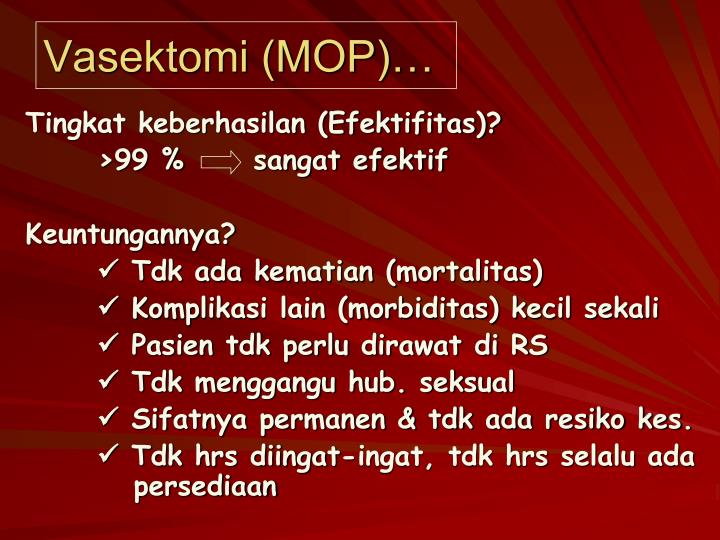 Vasektomi (MOP)…