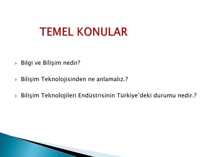 TEMEL KONULAR