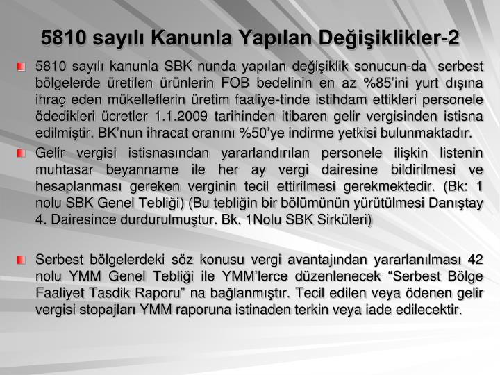 5810 sayl Kanunla Yaplan Deiiklikler-2