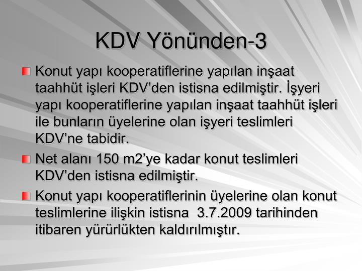 KDV Yönünden-3