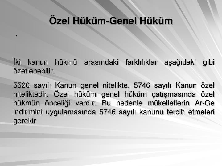 zel Hkm-Genel Hkm