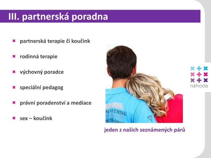 III. partnerská poradna