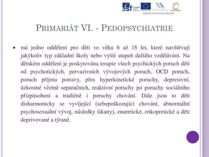 Primariát VI. -