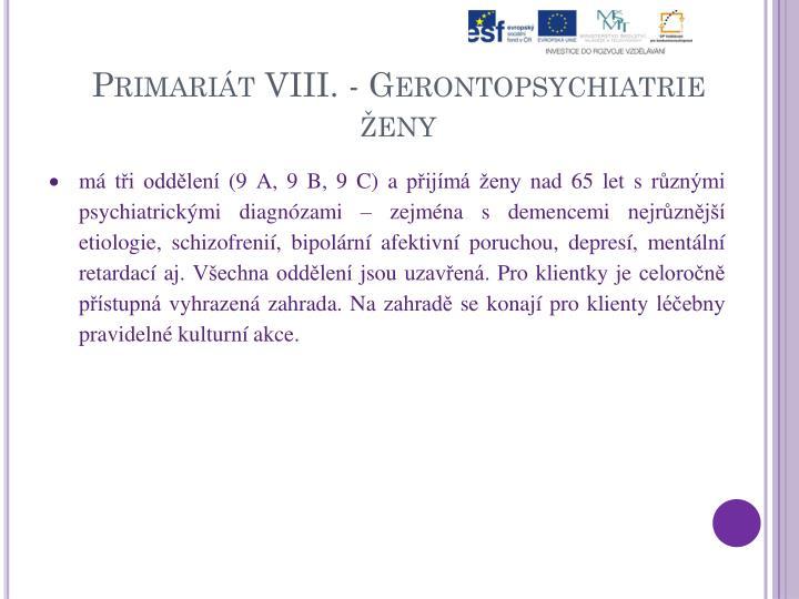 Primariát VIII. -