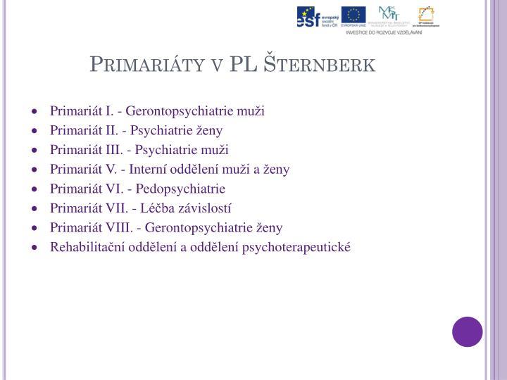 Primariáty vPL Šternberk
