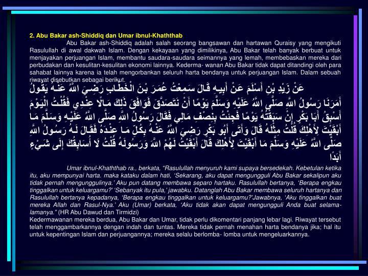 2. Abu Bakar ash-Shiddiq dan Umar ibnul-Khaththab