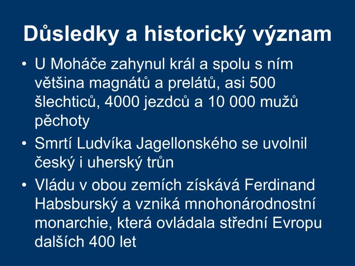 Důsledky a historický význam