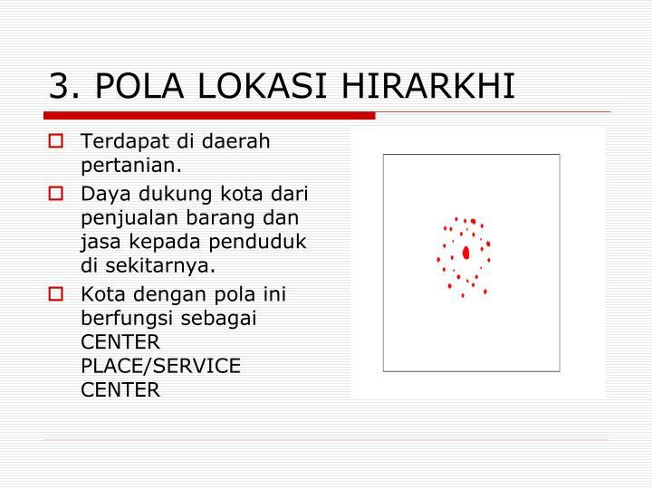 3. POLA LOKASI HIRARKHI