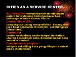 cities as a service center