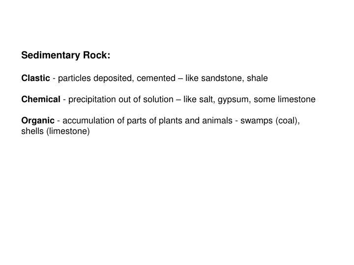 Sedimentary Rock: