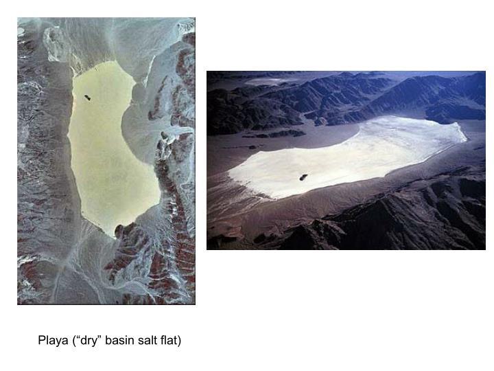 "Playa (""dry"" basin salt flat)"