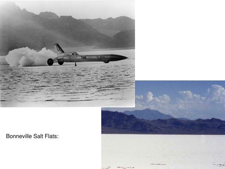 Bonneville Salt Flats: