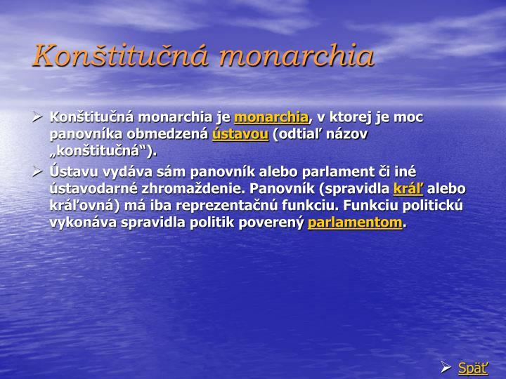 Konštitučná monarchia