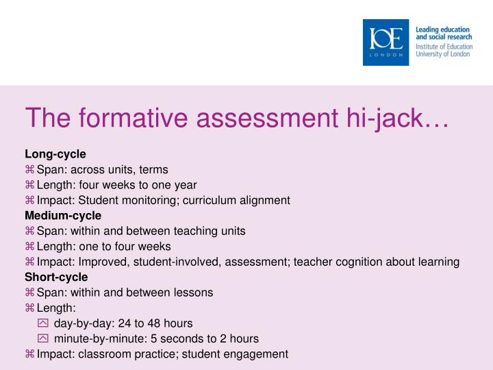 The formative assessment hi-jack…