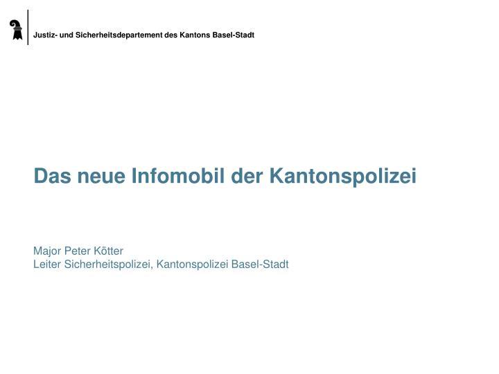 Das neue Infomobil der Kantonspolizei