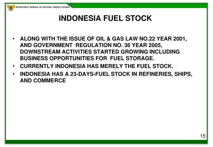 INDONESIA FUEL STOCK