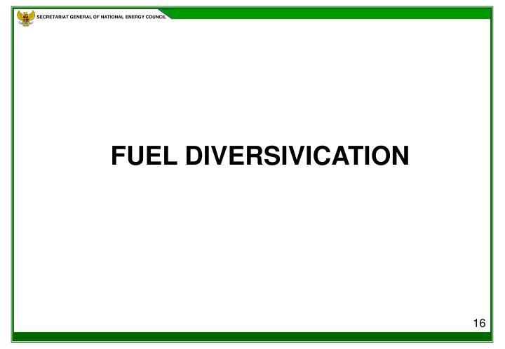 FUEL DIVERSIVICATION