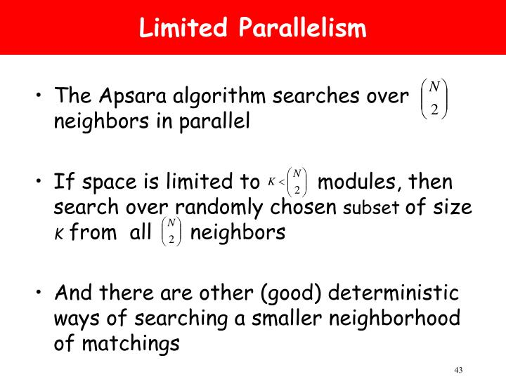 Limited Parallelism