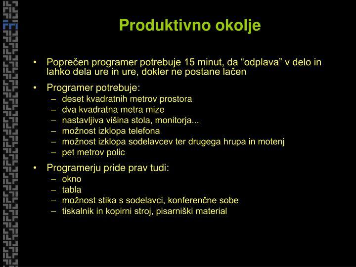 Produktivno okolje