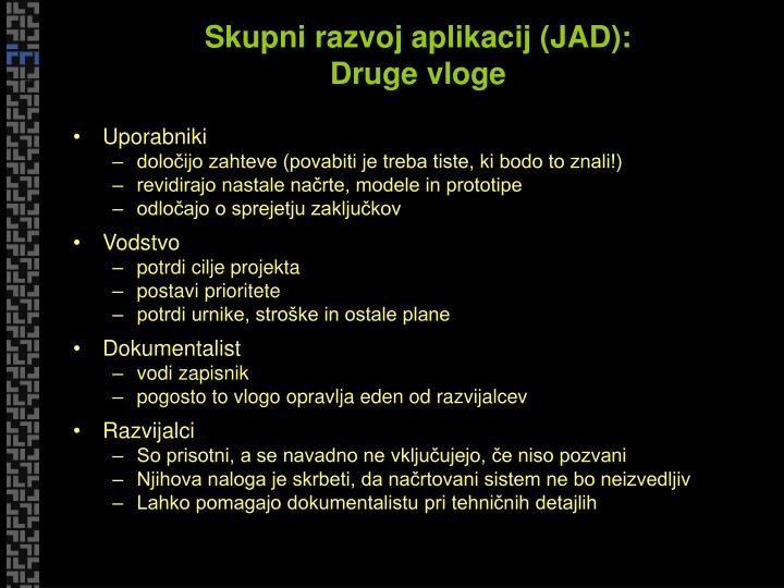 Skupni razvoj aplikacij (JAD):