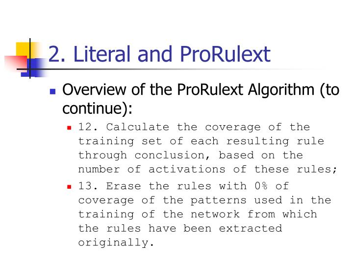2. Literal and ProRulext