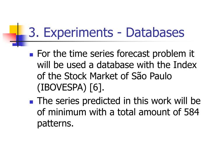 3. Experiments - Databases