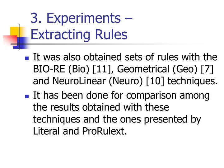 3. Experiments –