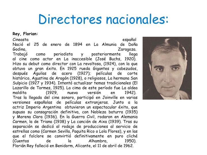 Directores nacionales: