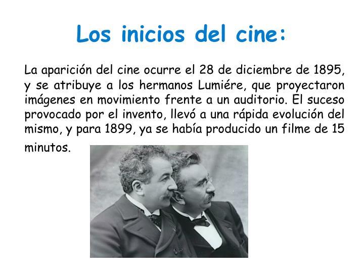 Los inicios del cine: