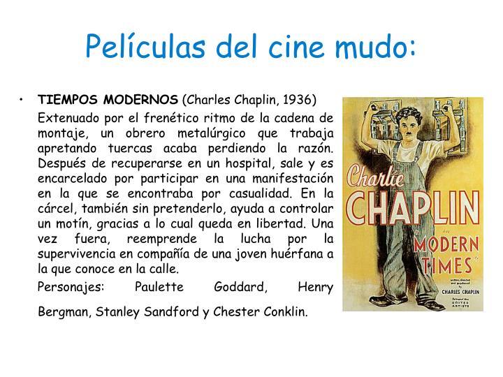 Películas del cine mudo: