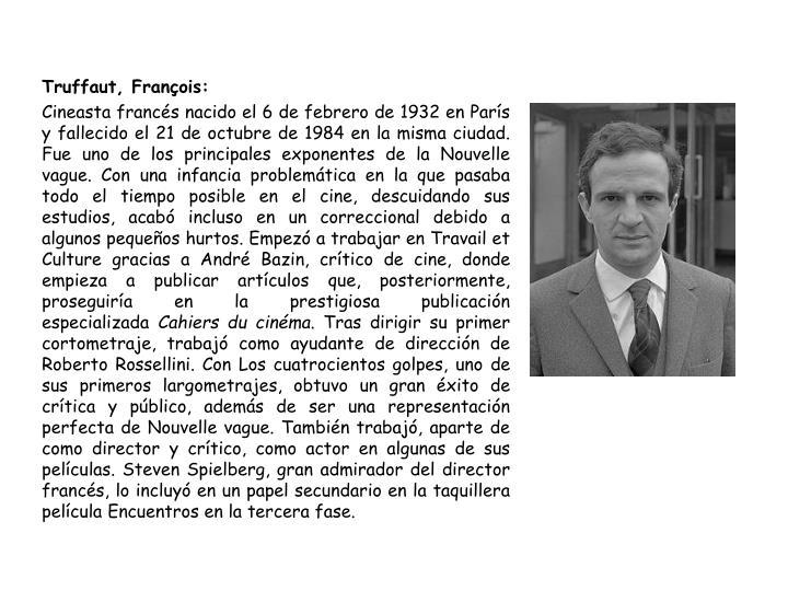 Truffaut, François: