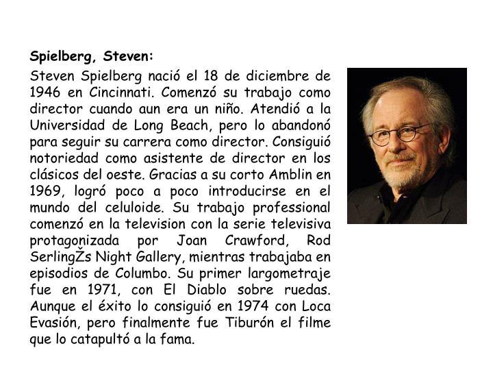 Spielberg, Steven: